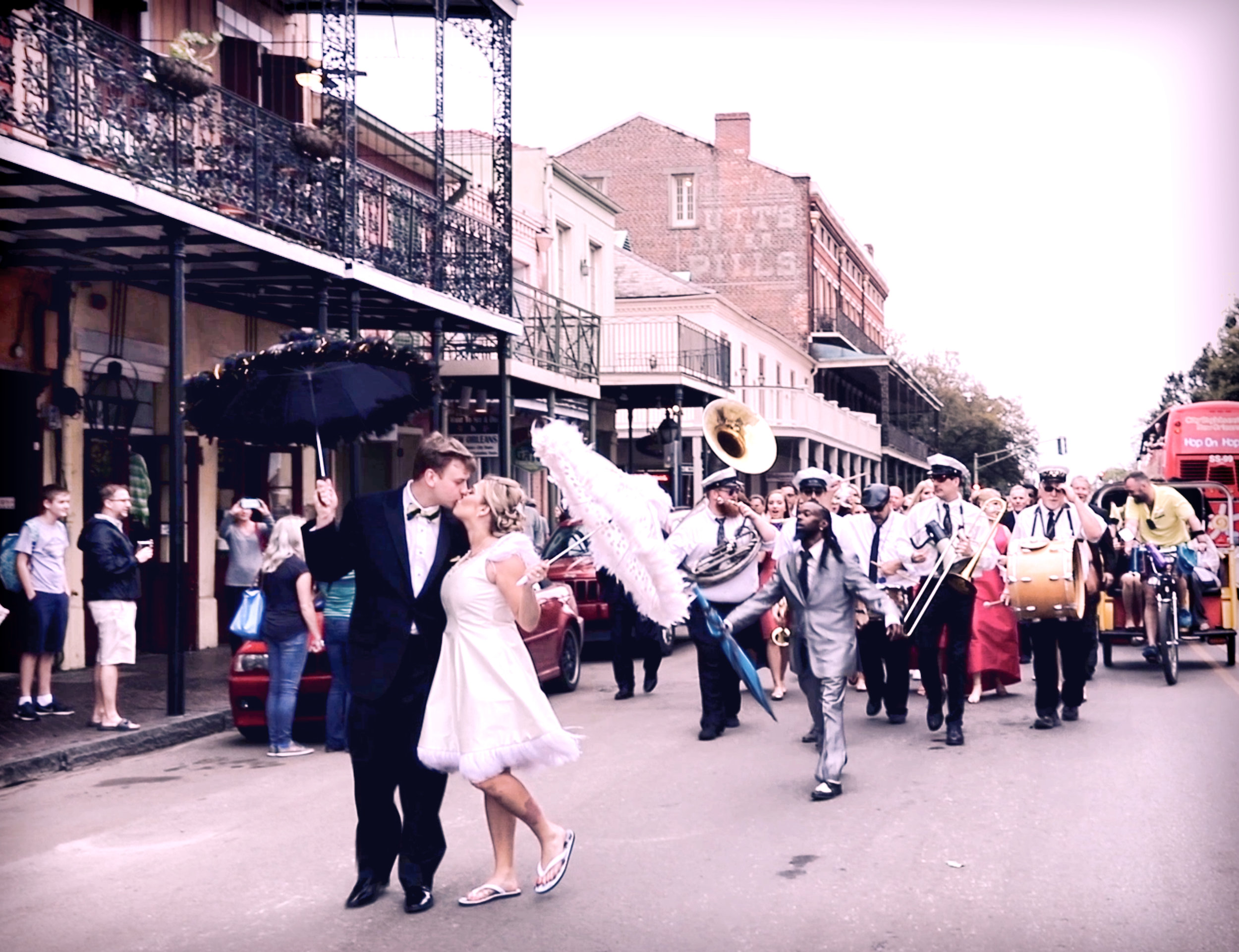 A SECOND LINE BAND - Enjoy and participate in one of New Orleans own wedding parade traditions.