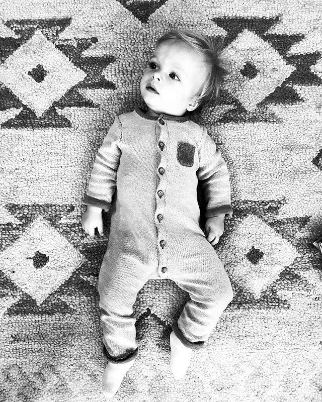 My rug looks cleaner if I filter the photo black and white.  #instagramhacks #whyaretherealwayscheerioseverywhere #baby #babyboy #southwestdecor #momlife #realmotherhood #honestmotherhood #momproblems #littleones #oneyearold