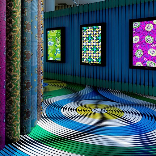 Inspiration  Incredible colour explosion at Vlisco's Fabric Exhibition at Museum Helmond, The Netherlands @thecoolhunter_