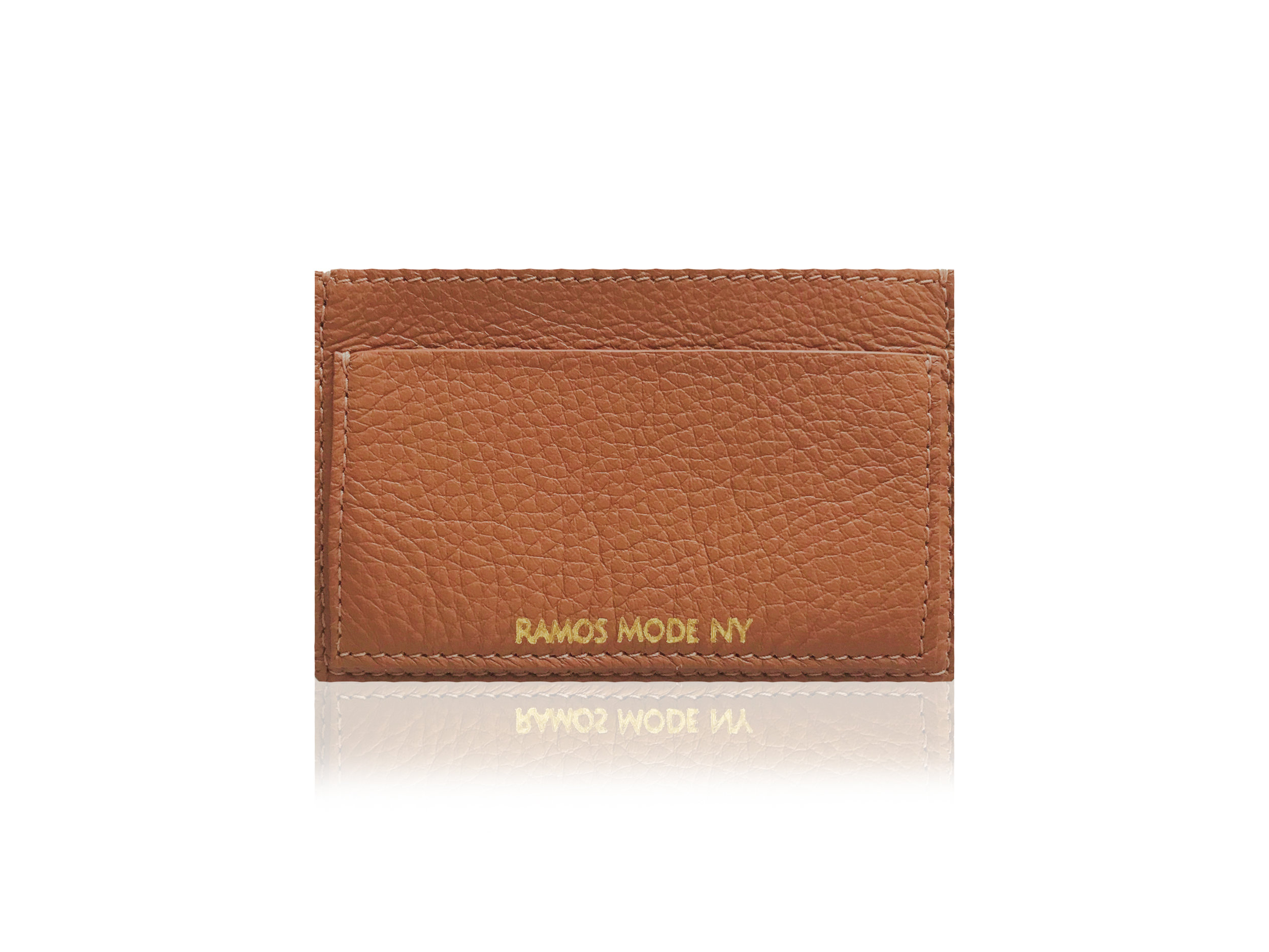 RMNY Card Case Camel Gold Back.jpg