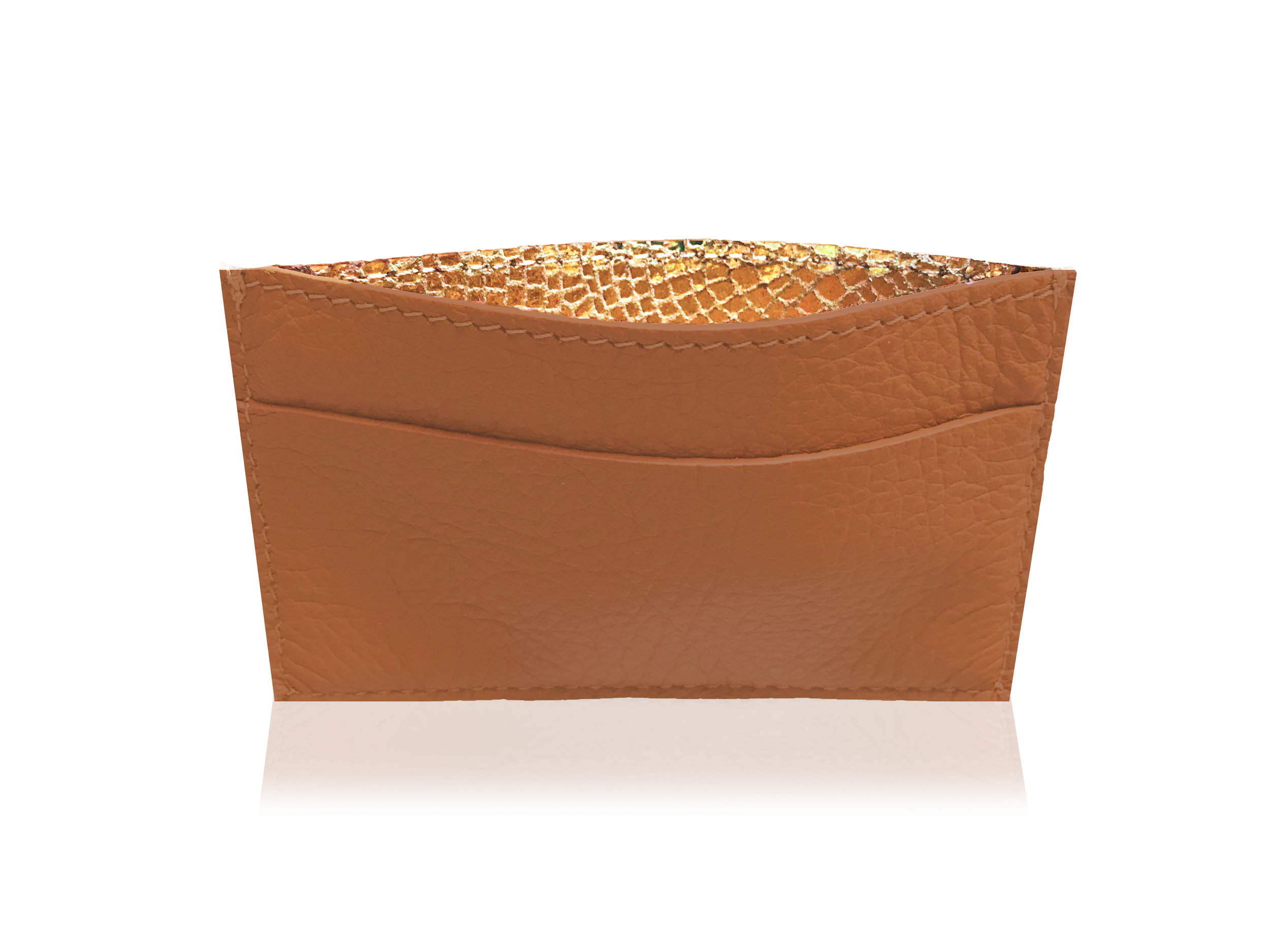 RMNY Card Case Camel Gold Top.jpg
