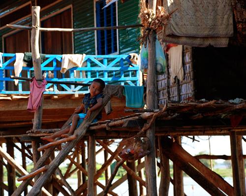 Alicia Morga Cambodia stilts