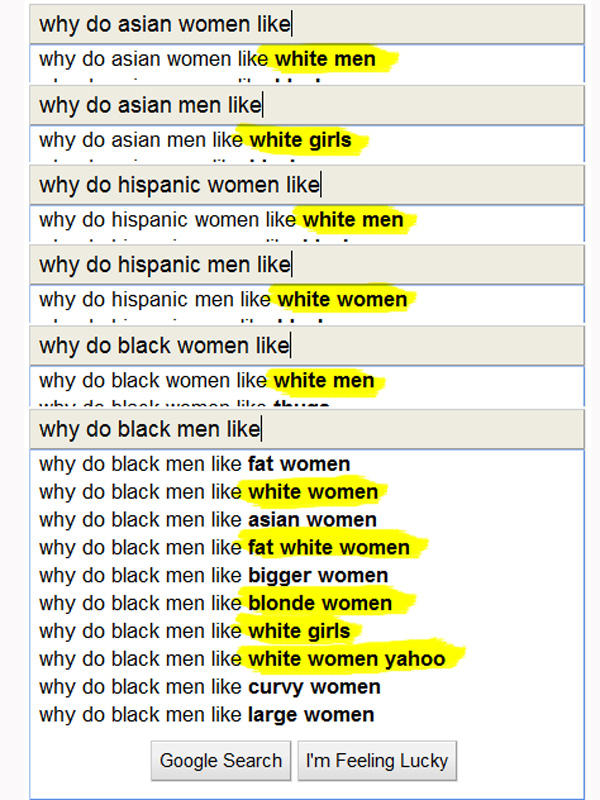 Google on White People