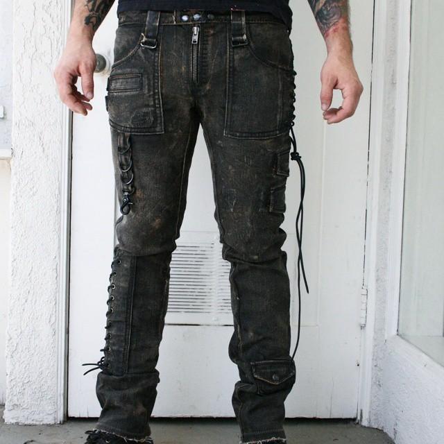 Pick of the day. Corded denim pant. #boneblackla #boneblack #customclothing