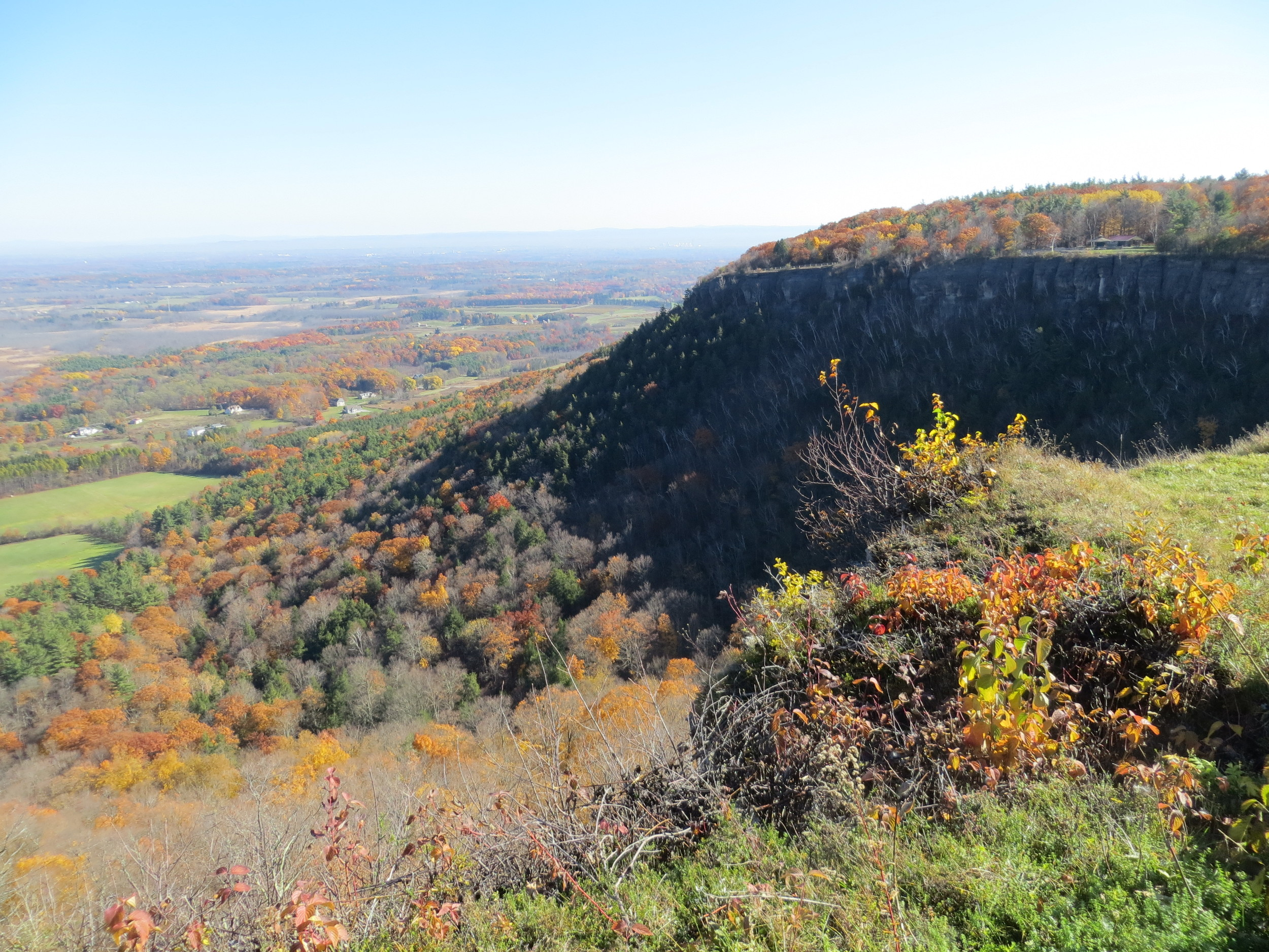 The Indian Ladder Trail: Thacher Park Albany, New York State. The location where Henry Hudson first traded with the Iriquois people.