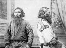 Sakhalin Ainu men, photographed by  Bronisław Piłsudski