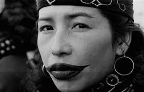An Ainu woman's lip tattoo is a rite of passage into adulthood.