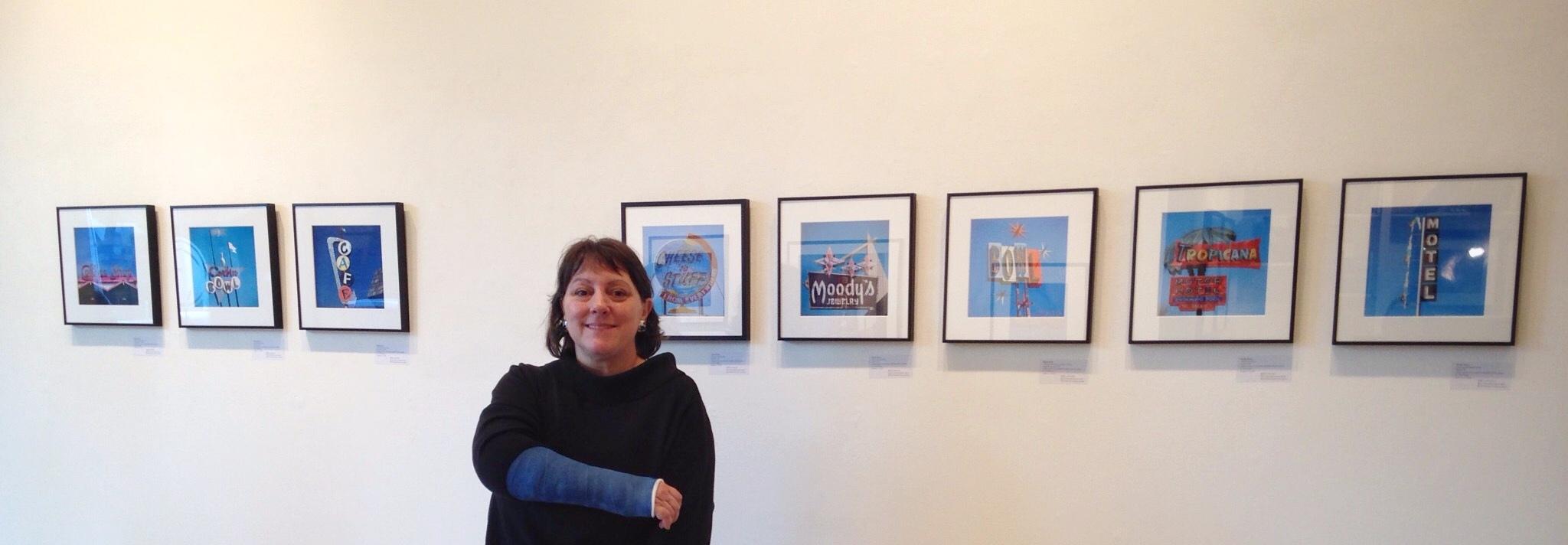 Molly Block: Roadside Relics exhibition. Broken arm.