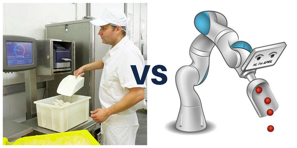 Traditional Ingredient Weighing Vs Robotic Weighing
