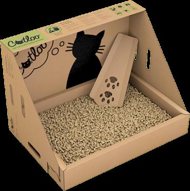 CATLOO – Bio-Einweg-Katzentoilette Größe M