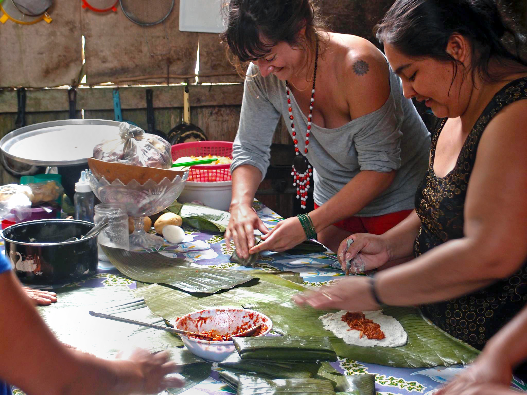 I had a blast cooking tamales for new years eve with Lancandon indigenous women in Chiapas - Mexico.