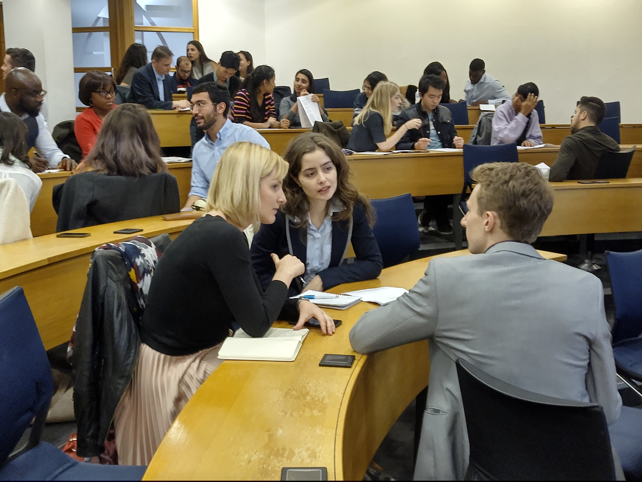 Participants in discussion at the SIULondon workshop on November 16.