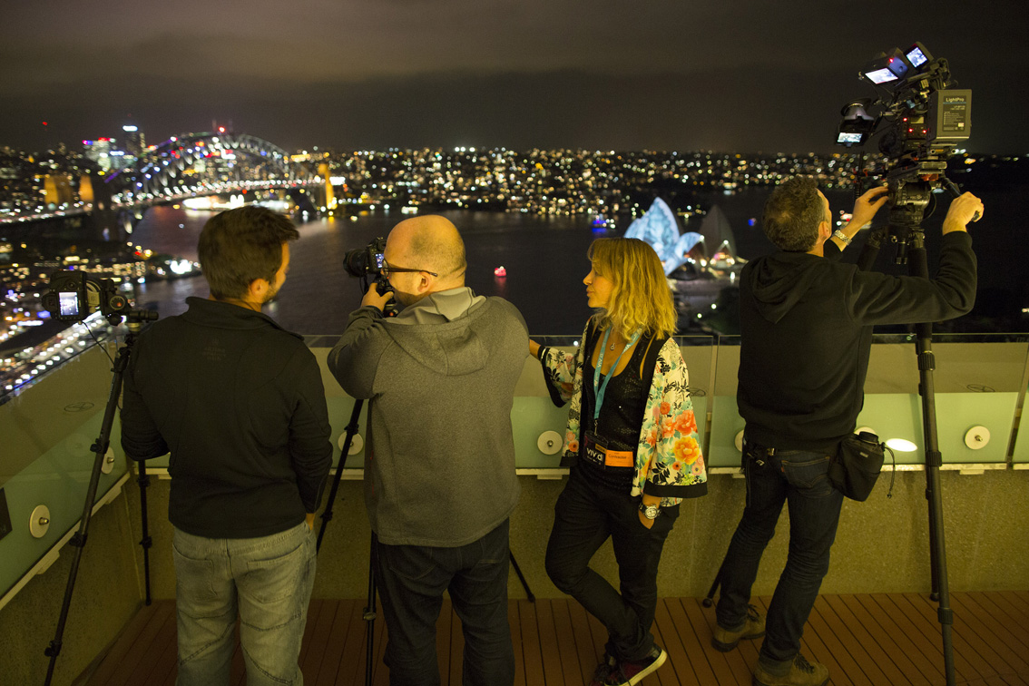 Behind the scenes on the Vivid Sydney film, timelapse and photo shoot