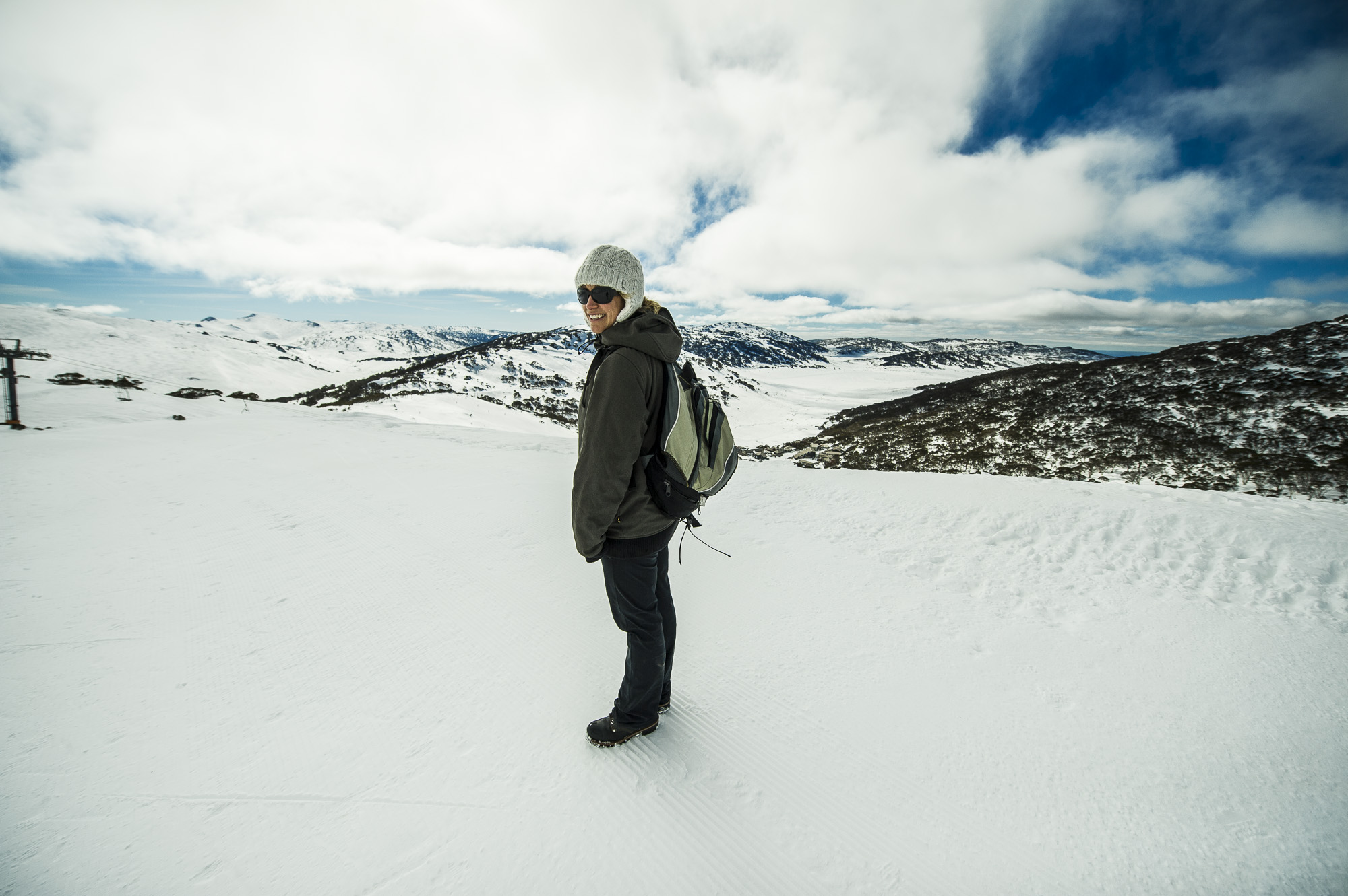 Location scouting for the Snowy Mountains Winter campaign