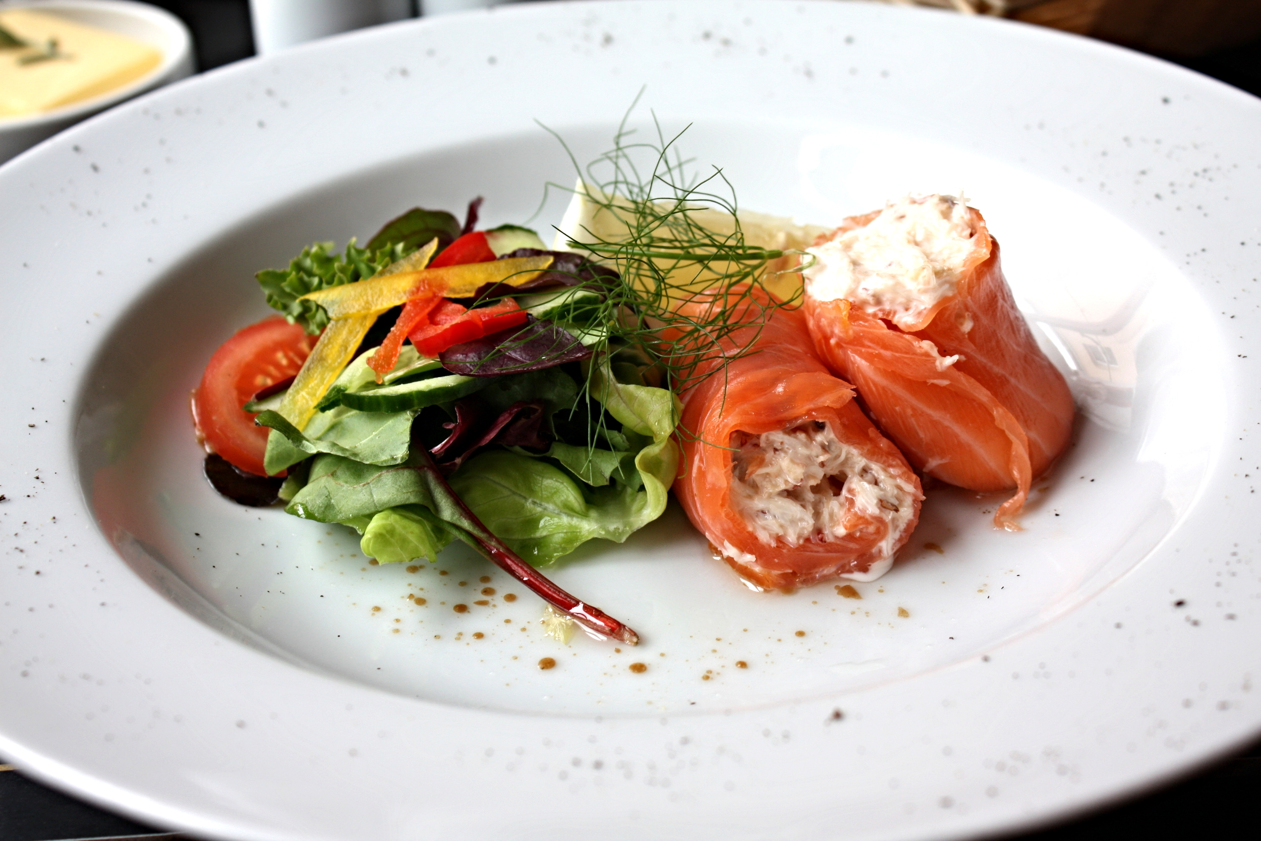 Smoked salmon stuffed with crab mayo (7).JPG