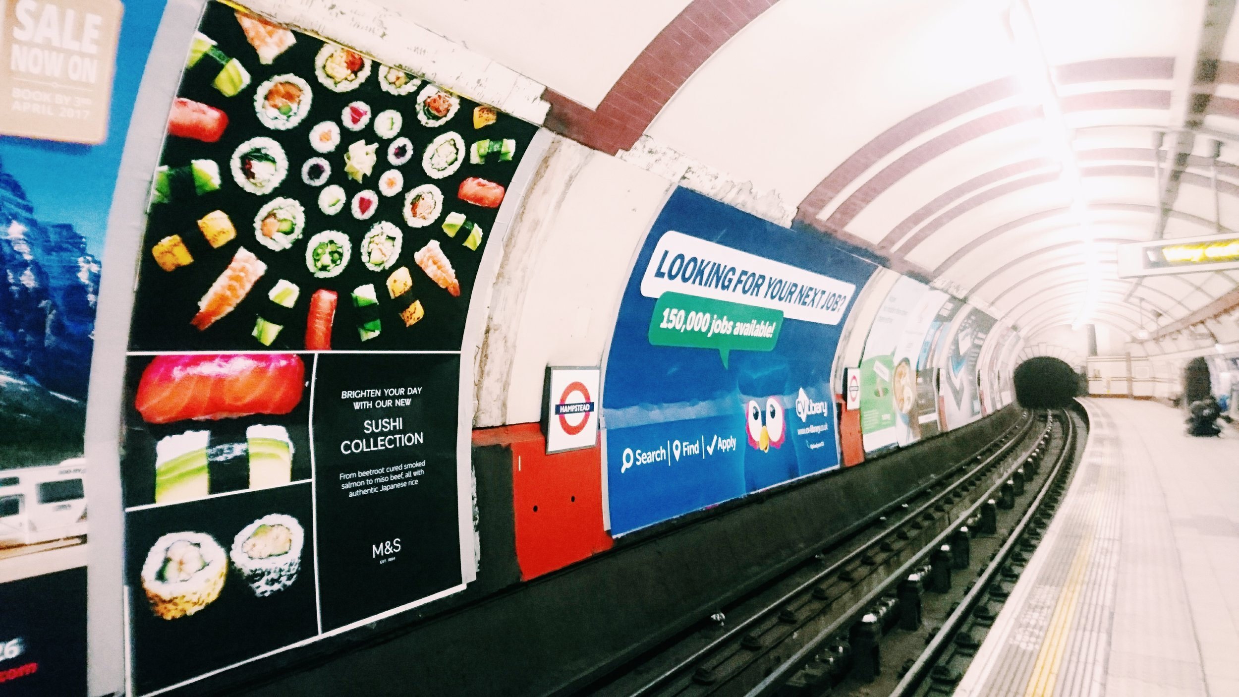 m&s sushi stacker london underground