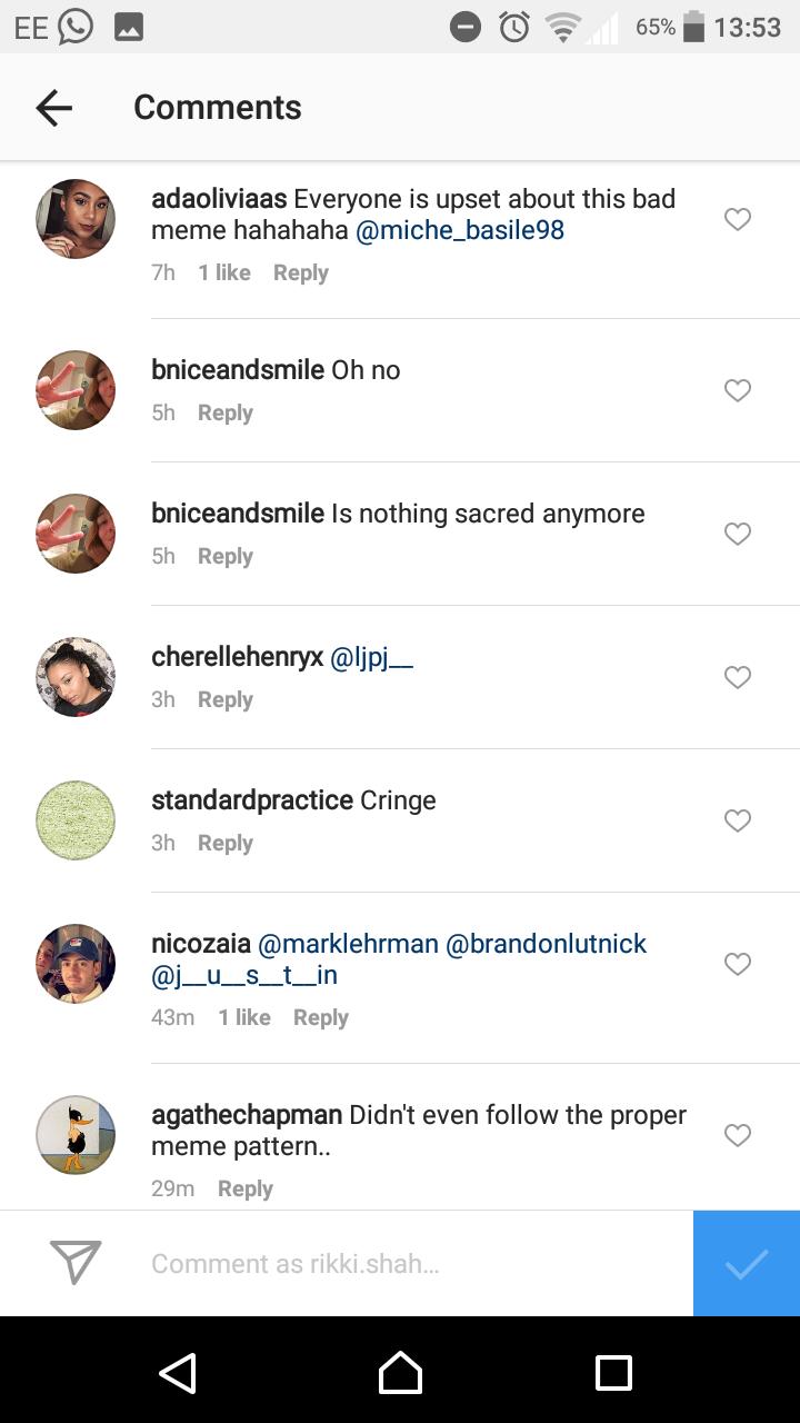 Gucci Meme Comments