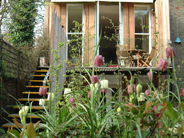 Morrison, Kensington, London - terrace and garden landscape with sarah de teliga