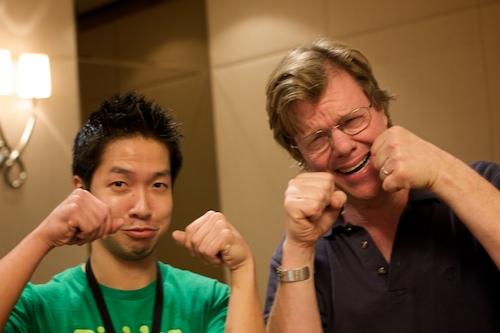 me and joe mcnally nyan nyan asian poses