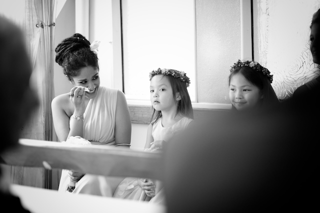 bridesmaid cries during hong kong star ferry wedding