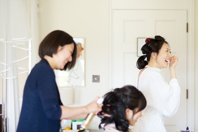 japanese bride wedding morning prep
