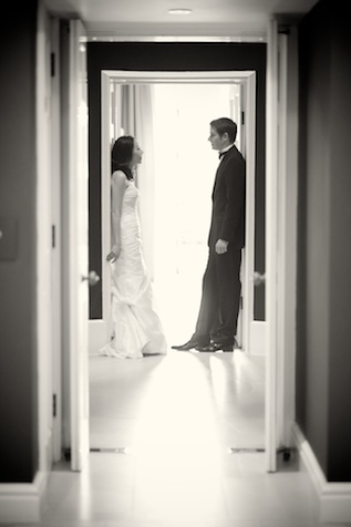london wedding japanese bride german formal portrait doorway