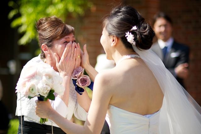 london wedding afternoon high tea bride mom crying