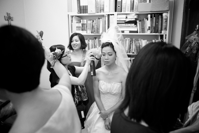 Hong-Kong-wedding-union-church-bride-prep-getting-ready-black-and-white