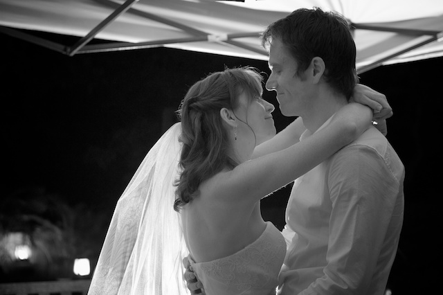 Hong Kong Wedding one-thirtyone outdoor bride and groom first dance black and white