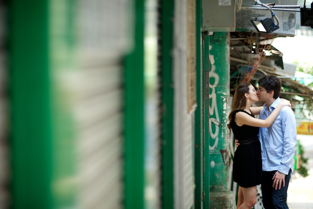 Hong-Kong-Engagement-Portrait-Session-Shoot-Central-Soho-Stairs-Old-Street