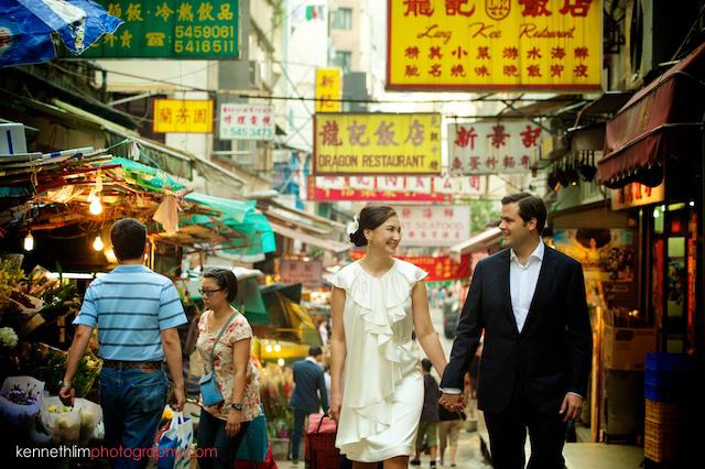 Hong Kong engagement market wedding photoshoot couple holding hands