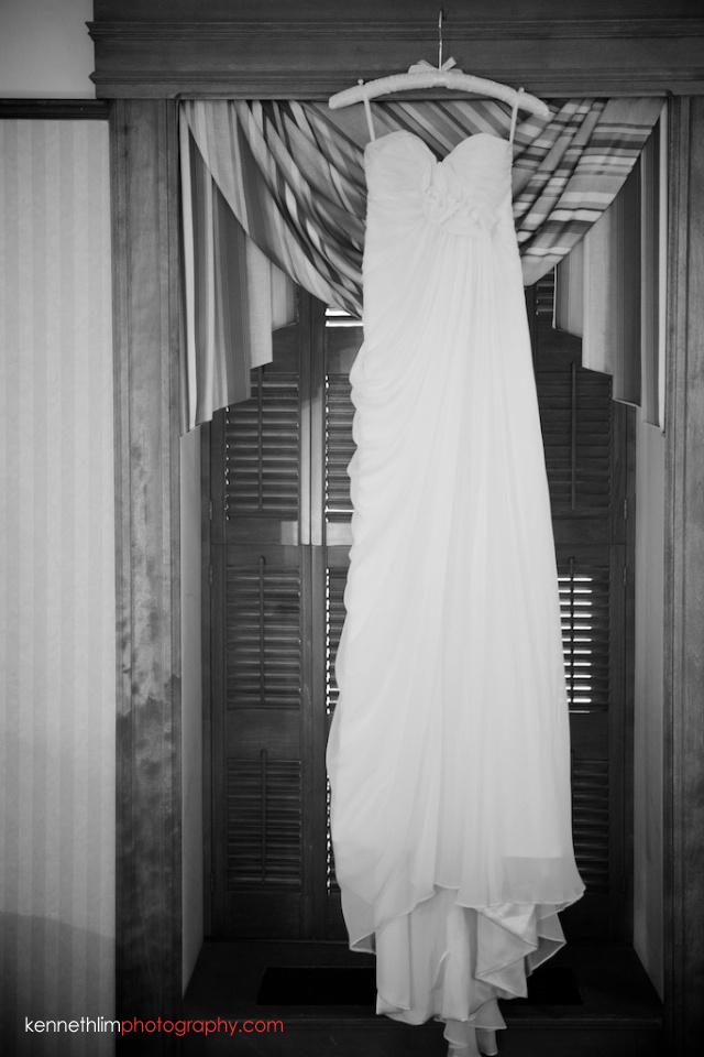 New York wedding outdoor bride dress gown