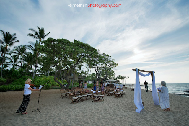 Kona Hawaii US Wedding outdoor beach ocean ceremony start