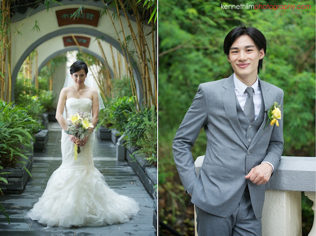 Hong Kong The Verandah wedding bride gown groom portrait