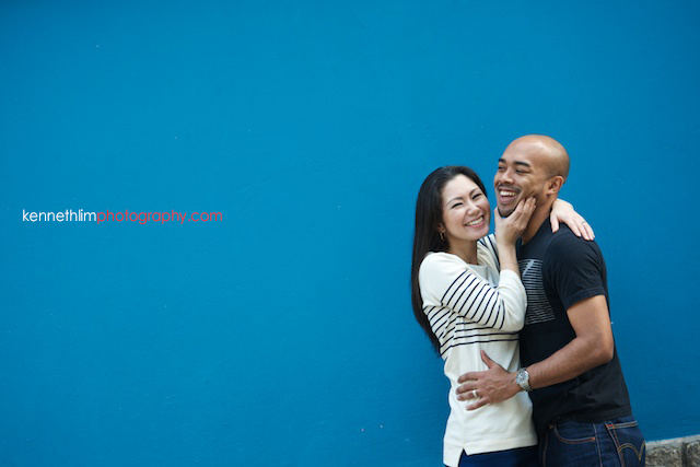 Hong Kong Midlevels engagement photoshoot session portraits couple hugging laughing together