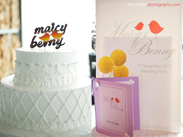 Hong Kong Wooloomooloo Prime wedding cake registration card