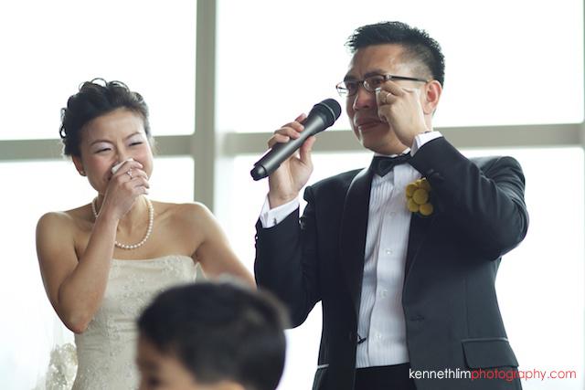 Hong Kong Wooloomooloo Prime wedding groom giving emotional speech