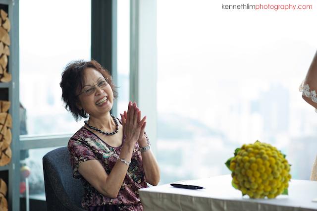 Hong Kong Wooloomooloo Prime wedding mother of bride grinning