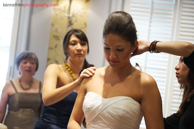 Hong Kong Country Club wedding bride getting ready with hair