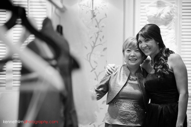 Hong Kong Country Club wedding bridesmaid mother smiling
