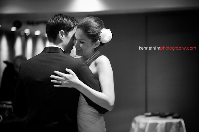 Hong Kong Country Club wedding dinner bride groom first dance