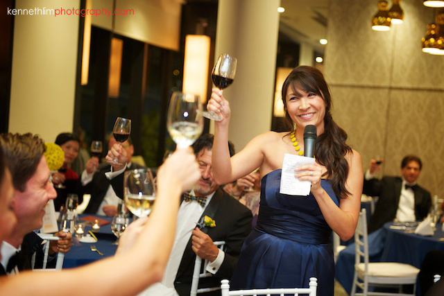 Hong Kong Country Club wedding dinner maid of honor speech toasting