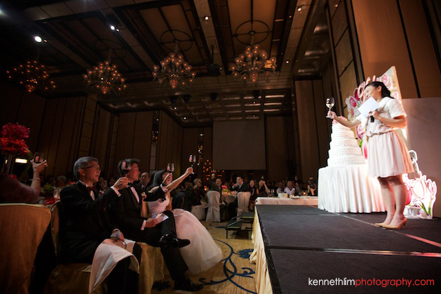Hong Kong wedding Four Seasons banquet maid of honor speech toasting