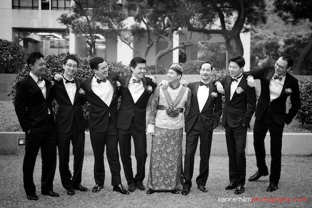 Hong Kong wedding morning groom and groomsmen portrait session