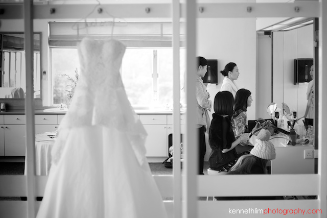 Hong Kong wedding Shek O Golf and Country Club morning bridesmaid and bride getting ready for ceremony