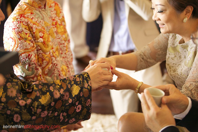 Koh Samui wedding Shasa Resort chinese tea ceremony bride and groom