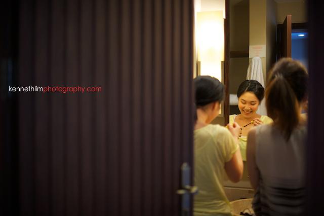 Koh Samui wedding Shasa Resort morning preparations bridesmaids getting ready in bathroom