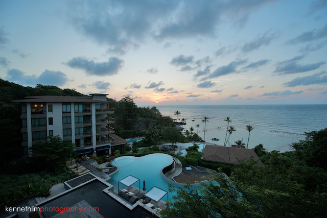 Koh Samui wedding Shasa Resort wedding day early morning sunrise scenery