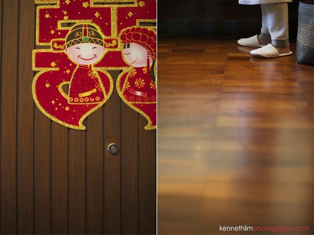 Koh Samui wedding Shasa Resort wedding day wall decorations bride morning preparations slippers