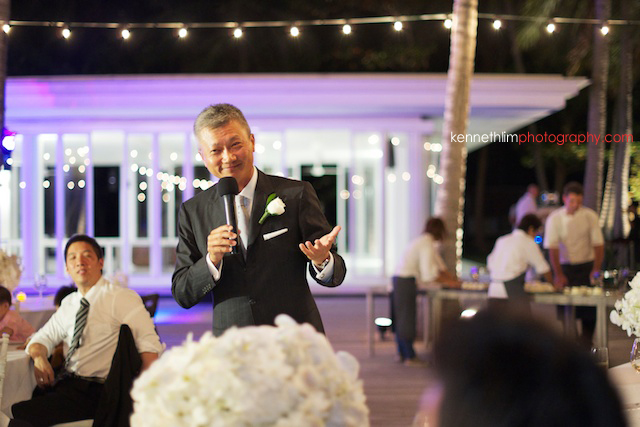 Koh Samui wedding YL Residence father of bride giving speech